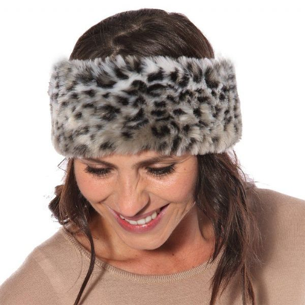 WOMEN'S ELASTICATED FAUX FUR HEADBAND